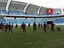 América-RN realiza primeiro treino e divulga elenco com 23 jogadores