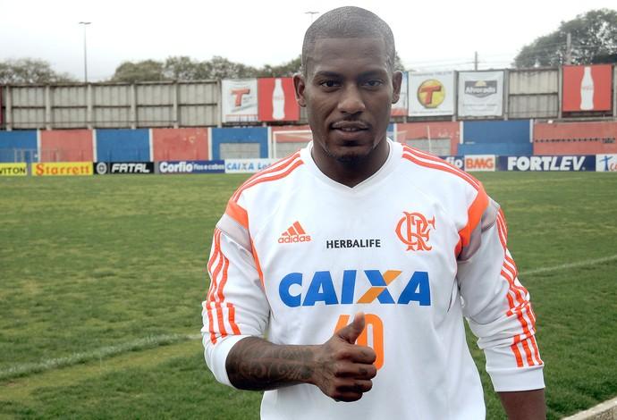 Amaral treino Flamengo (Foto: Cahê Mota)