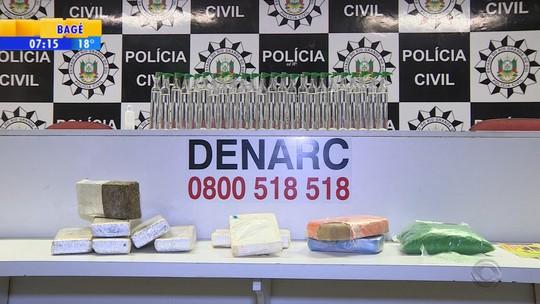 Apreensão de drogas no RS faz polícia suspeitar de rota para o Uruguai
