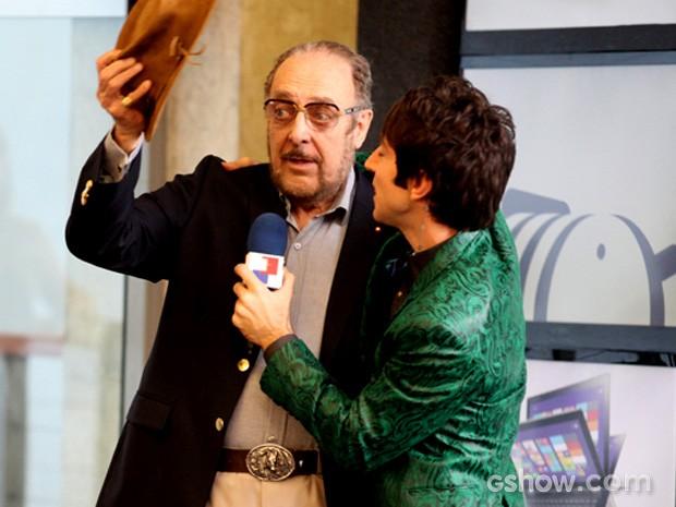 Rodrigo Pandolfo e Miele  (Foto: Geração Brasil / TV Globo)