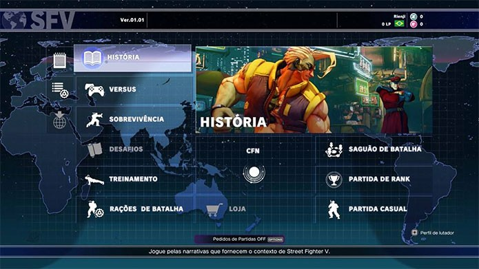 Modo de história de Street Fighter 5 (Foto: Reprodução/Felipe Vinha)