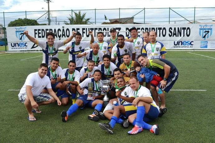 Mendes foi campeão da 3ª Copa Interclubes de futebol 7, vencendo o Rio Branco-ES por 4 a 2 (Foto: Divulgação/FF7ES)