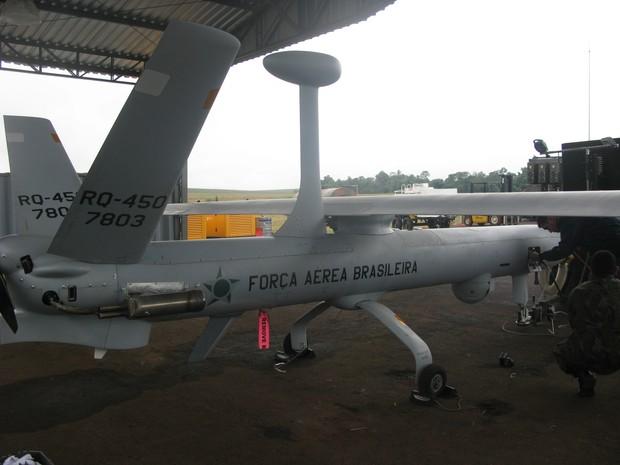 Drone da FAB é usado em operação (Foto: Tahiane Stochero/G1)