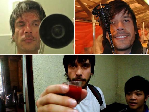 Nariz quebrado na Thailândia, escorpião no espeto e sangue de cobra: choque de culturas. (Foto: Arquivo pessoal)