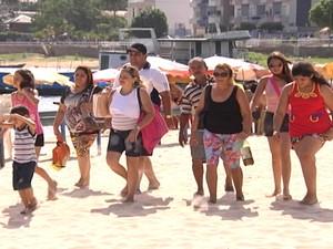 Família veio do Mato Grosso para se despedir de 2013 em Santarém (Foto: Reprodução/TV Tapajós)