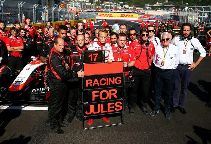 "Marussia faz homenagem a Jules Bianchi: ""Correndo por Jules"" (Foto: Getty Images)"