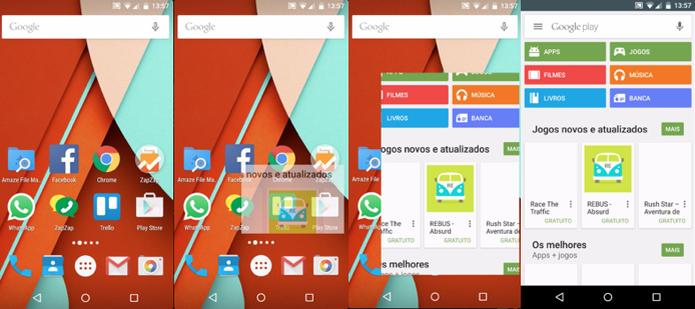 Android M tem nova animação de abertura de apps (Foto: Reprodução/Paulo Alves)