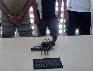 Torcedores do Treze, presos pela polícia de Campina (Foto: Divulgação / 2ºBPM)