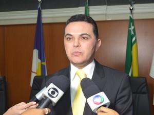 Jalser Renier (PSDC) está no 6º mandato na Casa; ele será o presidente no biênio 2014/2015 (Foto: Emily Costa/ G1 RR)