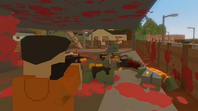Diferente de Minecraft, Unturned conta com muitos zumbis e foca-se no confronto contra eles com armas de fogo (Foto: Reprodução/Steam)