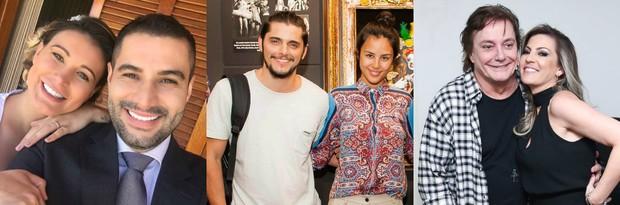 Andressa Urach com o marido, Yanna Lavigne com Bruno Gissoni e Fábio Jr. com a namorada (Foto: Arquivo pessoal | Samuel Chaves/Brazil News | Manuela Scarpa/ Brazil News)