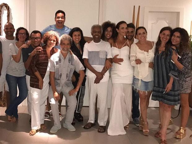 Encontro em Salvador, na Bahia, tem Xanddy, Gilberto Gil, Ivete Sangalo, Daniel Cady, Daniela Mercury, Flora Gil e Malu Verçosa (Foto: Instagram/ Reprodução)