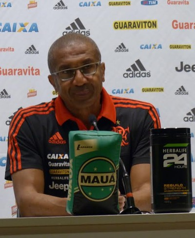 Cristóvão coletiva  Flamengo (Foto: Fred Gomes/ GloboEsporte.com)
