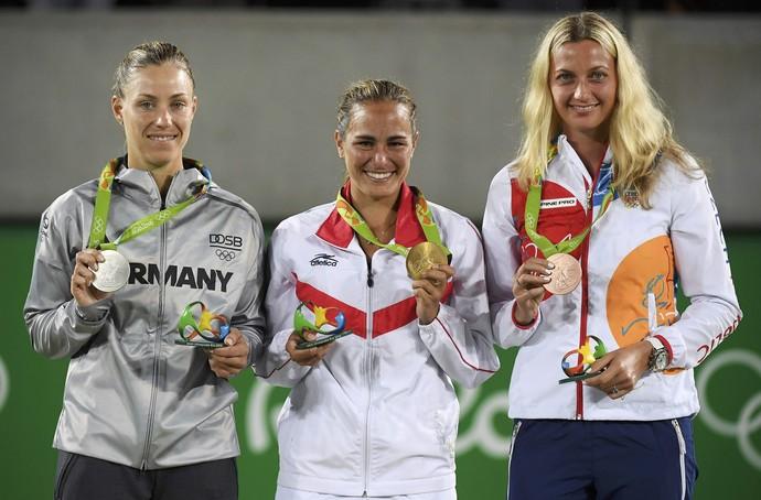 medalhistas tênis individual feminino (Foto: REUTERS/Kevin Lamarque)