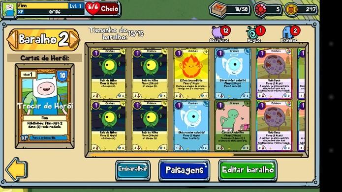Decks variados e muitas opções de cartas são algumas das qualidades de Card Wars (Foto: Reprodução / Dario Coutinho)