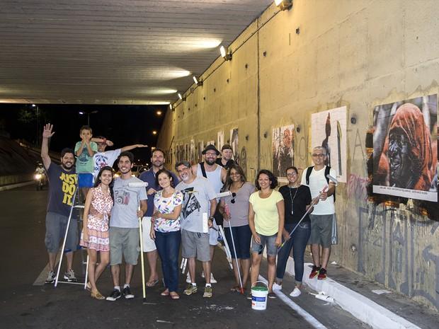 Onze fotógrafos participam de intervenção urbana em Maceió (Foto: Arthur Celso/Arquivo Pessoal)