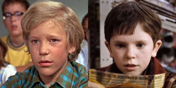 Peter Ostrum interpretou Charlie Bucket em 1971. Já Freddie Highmore viveu o personagem em 2005 (Foto: Divulgação)