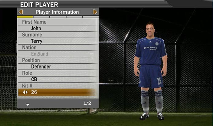 Terry já era ídolo do Chelsea em Fifa 07 (Foto: Reprodução/Murilo Molina)