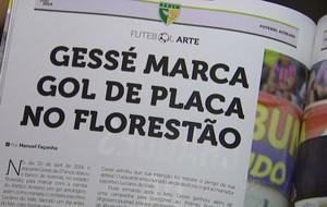 Revista da FFAC tem reportagem sobre gol de Gessé (Foto: Reprodução/TV Acre)
