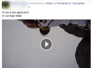 Amigos de Fernando compartilhou o vídeo com mensagem de lamento (Foto: Reprodução / Facebook)