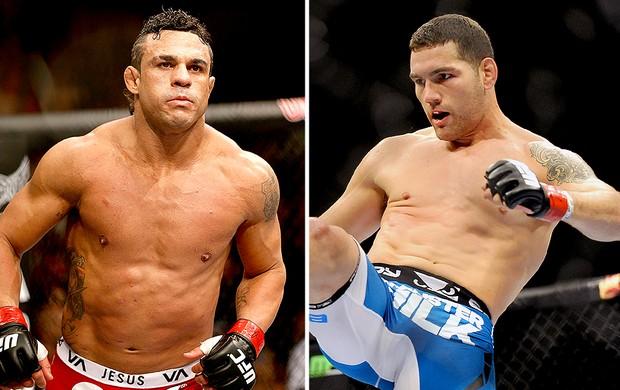 Montagem UFC Chris Weidman e Vitor Belfort (Foto: Editoria de Arte)