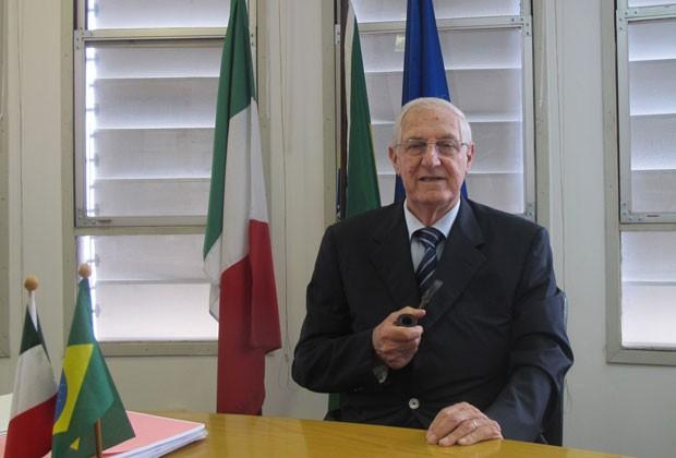 Edoardo Pollastri é candidato ao Senado italiano pela América Latina; ele já ocupou o cargo entre 2006 e 2008 (Foto: Juliana Cardilli/G1)