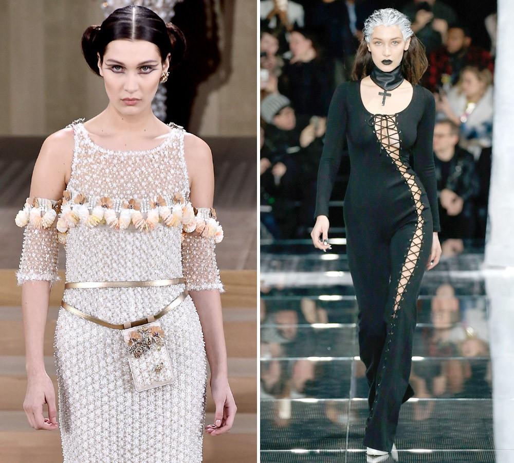 Couture, da passarela da Chanel, vs. street, do desfile de estreia da linha de Rihanna para a Puma (Foto: Getty Images)