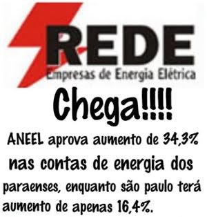 Imagem compara reajuste autorizado para o Pará com aumento em outras cidades (Foto: Reprodução / Facebook)