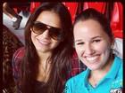 Bruna Marquezine assiste à partida de despedida do namorado Neymar