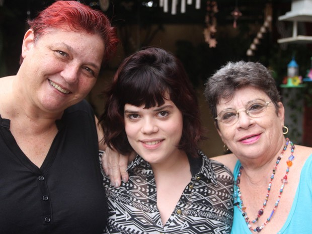 Fulvia, Maria Rita e a neta Paloma, que está grávida de 3 meses (Foto: Gustavo Magnunsson/Fotoarena para o G1 Abs!)