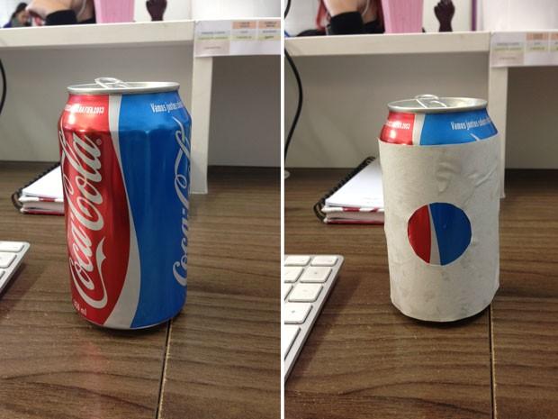 'Achado' de estudante foi publicado em sua página no fazebook com a mensagem: 'Só tem Coca-Cola, pode ser?' (Foto: Divulgação)