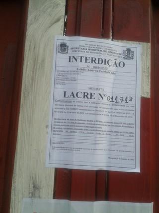 Estádio do América, em Edson Passos, é interditado, Flamengo, Boavista (Foto: Reprodução)