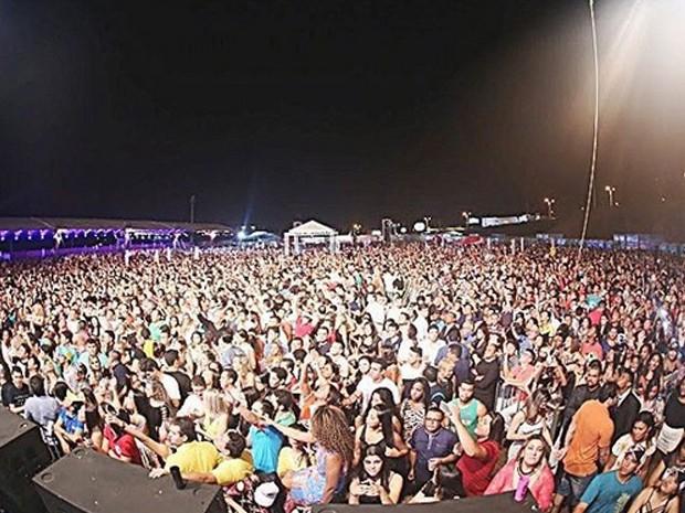 Show do Aviões do Forró em São Luís termina após apresentação de seis músicas (Foto: Reprodução/ Instagram)
