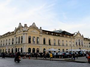 Caminhos do Gol em Porto Alegre, Mercado Público (Foto: Igor Grossmann/G1)