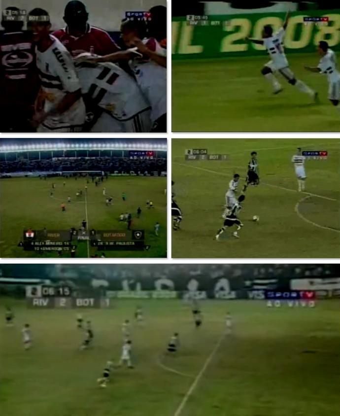 River-PI X Botafogo - Copa do Brasil 2008 (Foto: Reprodução/Sportv)