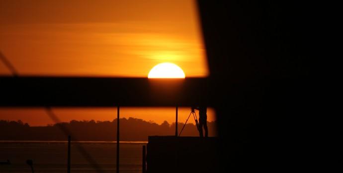 Pôr do sol do beira-rio (Foto: Diego Guichard/Globoesporte.com)
