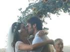 Veja foto do casamento de Gisele Itié com o ator que vive Cazuza