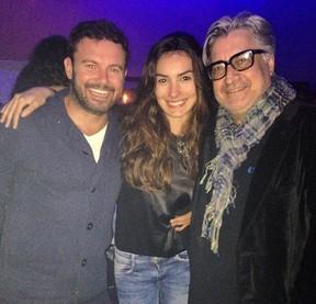 Marina Moschen com o namorado, Daniel Nigri, no aniversário de Sergio Mattos (Foto: Reprodução/Instagram)