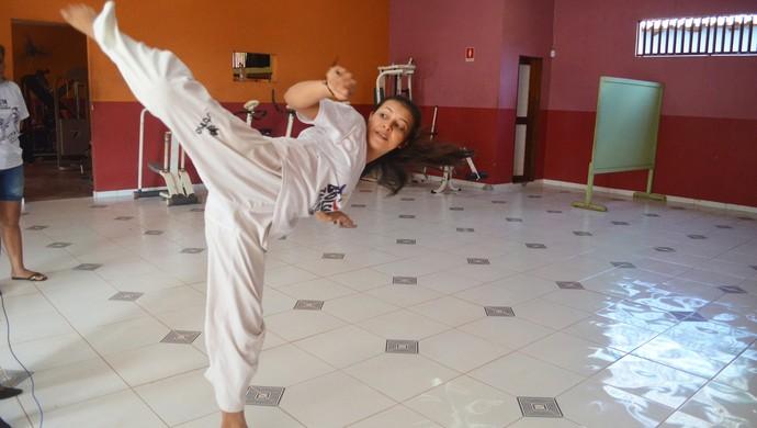 Silmara Batista, atleta de Taekwondo (Foto: Lia Anjos/ GloboEsporte.com)