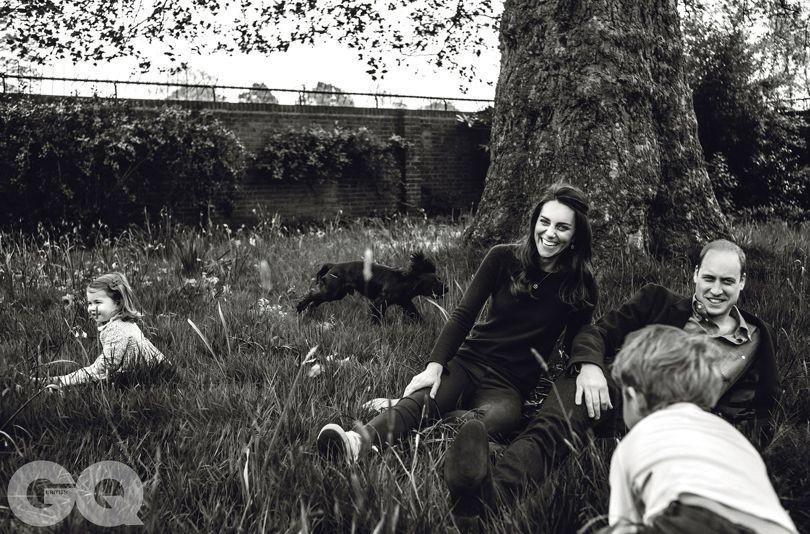 Príncipe William e família para a GQ britânica (Foto: Norman Jean Roy)