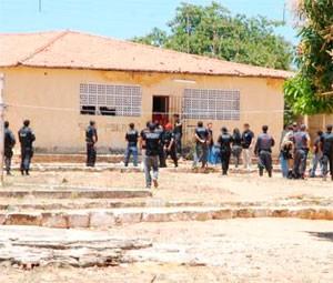 Penitenciária Agrícola Mário Negócio, em Mossoró (Foto: Gilli Maia)