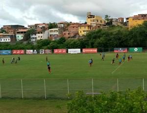 Jogadores do Bahia fazem treinamento no Fazendão (Foto: Rafael Santana)