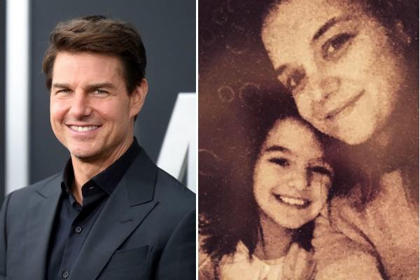 O ator Tom Cruise e sua filha, Suri, com a mãe, a atriz Katie Holmes (Foto: Getty Images/Instagram)