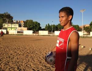 Renan Damásio, zagueiro do Moto Clube-RO (Foto: Michele Carvalho)