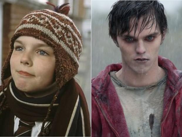Nicholas Hoult em 'Um grande garoto' (2002), e em 'Meu namorado é um zumbi' (2013). O ator que namora Jennifer Lawrence também atuou em 'Direito de amar' (2009), 'X-men: Primeira classe' (2011) e no seriado inglês 'Skins' (Foto: Divulgação)