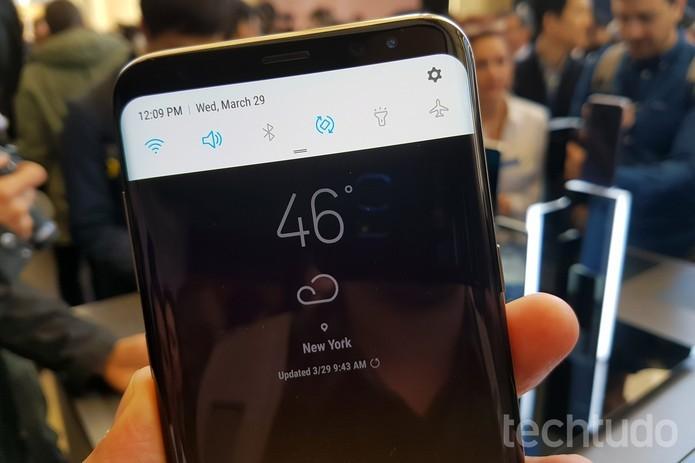 Android 7.0 está nos dois modelos do S8 (Foto: Thássius Veloso/TechTudo)