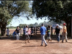 É a segunda vez em três anos que a Fazenda Dom Augusto, em Porto Nacional, é invadida (Foto: Reprodução/TV Anhanguera)