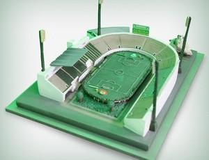 Protótipo da réplica do estádio Palestra Itália (Foto: Divulgação)