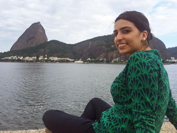 Mariam Topeshashvili, de 18 anos, veio ainda criança da Georgia para o Rio (Foto: Gabriel Barreira/G1)