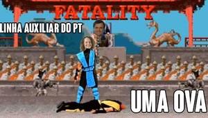 Fatality! Luciana Genro (PSOL) é comparada com o personagem Sub-zero do game Mortal Kombat (Foto: Reprodução/Twitter)